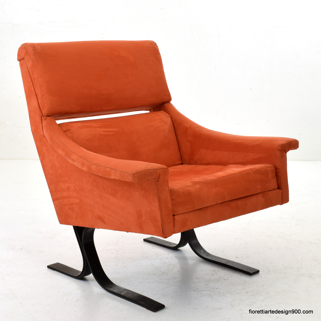 Poltrona Design 50 Steel Armchair by Busnelli Export Meda
